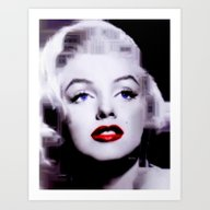 Marilyn In Black And Whi… Art Print