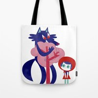 Red Riding Hood - Tricol… Tote Bag