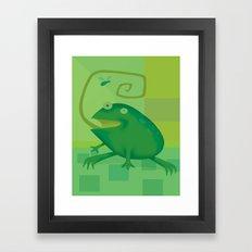 Shallow Frog Framed Art Print