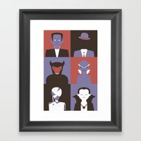 Monster Mash Purple Framed Art Print