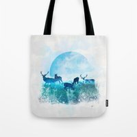 Tote Bag featuring Twilight by Lynette Sherrard Illustration and Design