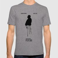 Psycho Mens Fitted Tee Tri-Grey SMALL