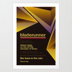 Bladerunner Minimal Movie Poster Art Print