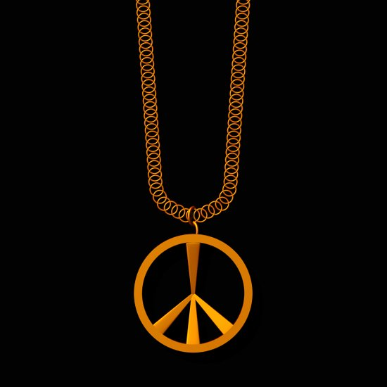 Peace Sign Necklace Art Print