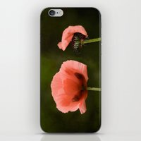 Couple Pink Oriental Poppies iPhone & iPod Skin