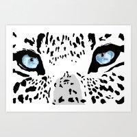 The blues; leopard. Art Print