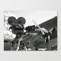 Mitchell movie camera DC-3 Canvas Print