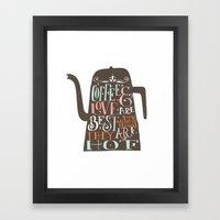 COFFE & LOVE Framed Art Print