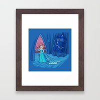 Frozen in Time and Space Framed Art Print