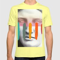 Composition on Panel 2 Mens Fitted Tee Lemon SMALL