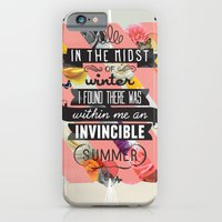 quote iPhone & iPod Cases featuring The Invincible Summer by Kavan and Co