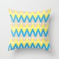 Summer Pattern 4 (Beach) Throw Pillow