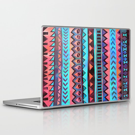 PATTERN {Tribal Stripe- Aqua} Laptop & iPad Skin