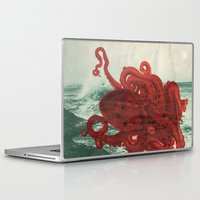 octopus Laptop & iPad Skins featuring Octopus Beach by Chase Kunz