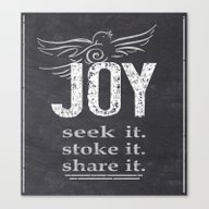 JOY...share It! Canvas Print