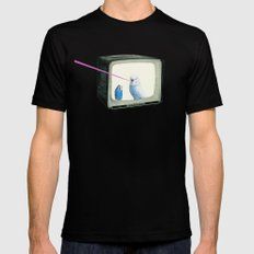 Talk Show SMALL Black Mens Fitted Tee