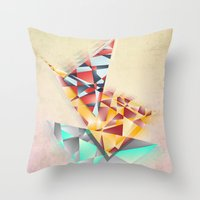 Triangle Rush! Throw Pillow