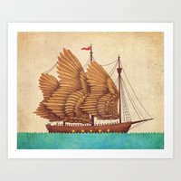 sea Art Prints featuring Winged Odyssey by Terry Fan