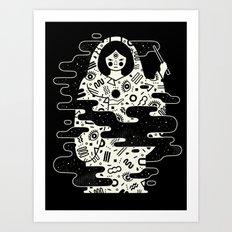 The Magician: Black Magi… Art Print