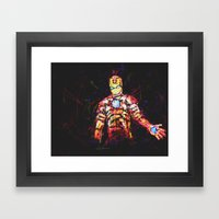 Iron Man Framed Art Print