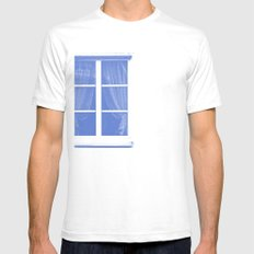 fenster 1 Mens Fitted Tee SMALL White