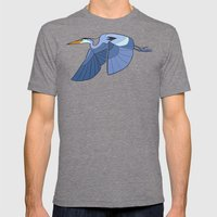 Heron Mens Fitted Tee Tri-Grey SMALL