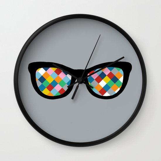 Diamond Eyes Wall Clock