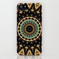 iPhone Cases featuring Mandala black 2 by Christine baessler