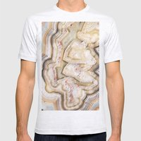 Marble Natural Mens Fitted Tee Ash Grey SMALL