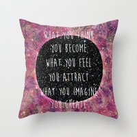 Law Of Attraction Throw Pillow