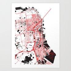 San Francisco Noise Map Art Print