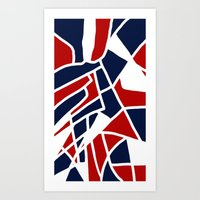 Red White & Blue Art Print
