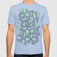 Abstraction Lines With M… Mens Fitted Tee Tri-Blue SMALL