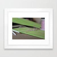 Green Envelopes Framed Art Print