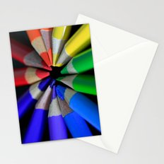 Multi Color Pencils Stationery Cards