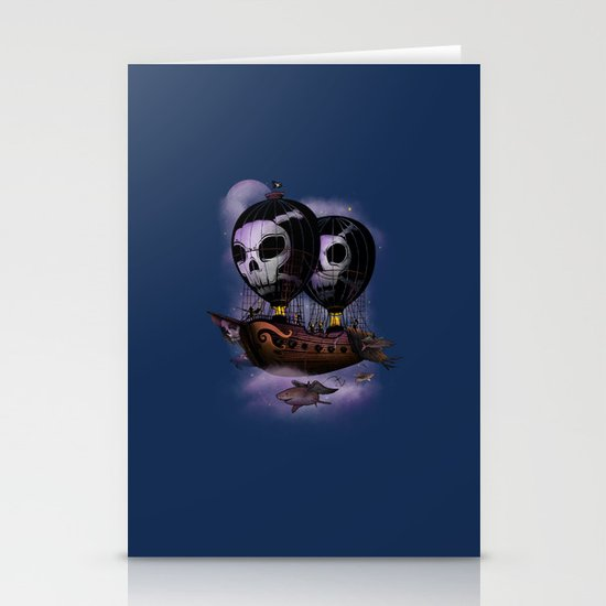 Hot Air Pirates Stationery Card