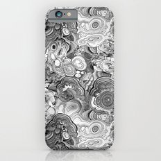 Malachite black and white iPhone 6s Slim Case
