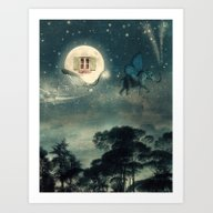 Art Print featuring Moon Dream by Paula Belle Flores