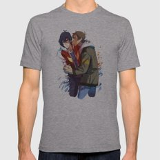 klance :> stetchy_messy Mens Fitted Tee Athletic Grey SMALL