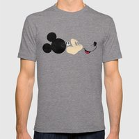 Deconstructing Mickey Mens Fitted Tee Tri-Grey SMALL
