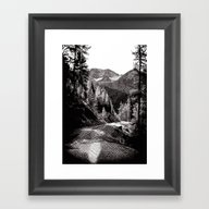 The Road Through The For… Framed Art Print