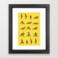 Yoga Bear - Classic Framed Art Print
