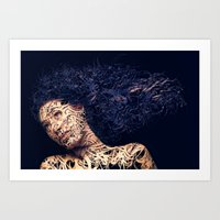 The Lines Of A Girl. Art Print