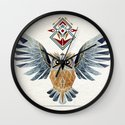 owl winter Wall Clock
