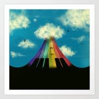 Seven notes, seven colors Art Print