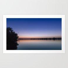 Sunset at the lake. Art Print