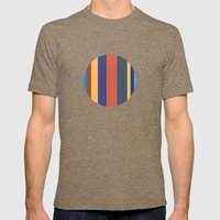 Color Band 70's - B - Stripe Mens Fitted Tee Tri-Coffee SMALL