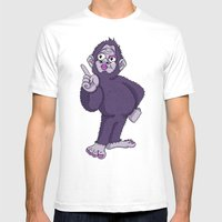 Sassy Squatch Mens Fitted Tee White SMALL