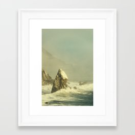 Framed Art Print - Last Rock Standing (color version) - Hraun Photography