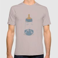 Baby Bottle With Diaper Mens Fitted Tee Cinder SMALL
